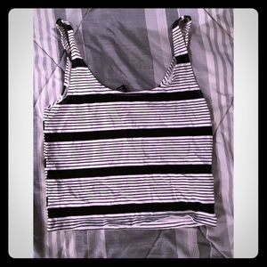 Forever 21 Black and White Tank Top